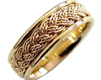 Hand Braided Cord Wedding Ring