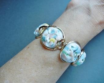 Vintage popcorn confetti bracelet, popcorn confetti bracelet, 1950's melted candy bracelet, melted confetti bracelet, confetti bracelet,