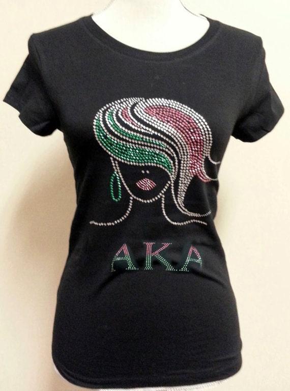 Aka Sorority Tshirt Rhinestone T Shirt Alpha Kappa Alpha