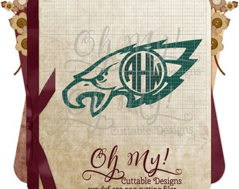 Eagles Monogram Frame Svg Dxf Eps Png Cutting Files