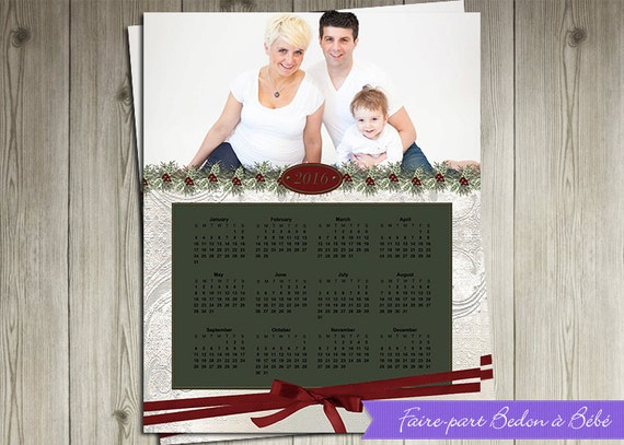 Digital Personalized Christmas calendar - 8x10 - Christmas calendar - Digital printable