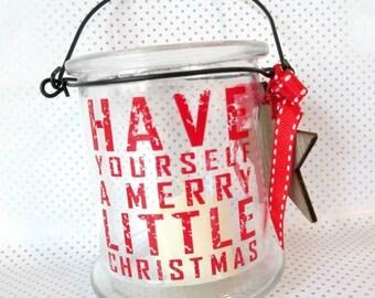 SALE 50% OFF Christmas Candle Holder Christmas Candleholder Christmas Tea Light Candle Holder Merry Christmas Candle Holder Christmas Decora