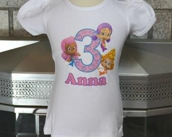 Bubble Guppies Shirt, Oona Birthday Shirt, Molly Birthday Shirt, Deema Birthday Shirt, Girls Birthday Shirt, Toddler Birthday, Toddler Shirt