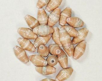 Paper Beads, Loose Handmade Supplies Barrel Winter Peace