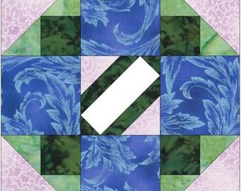 Album Block 5 - 15 Inch Block Paper Template Quilting Block Pattern PDF