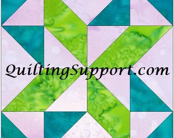 Mosaic 13-2 Paper Foundation Quilting Block Pattern