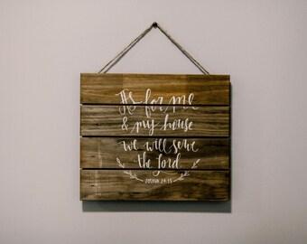 Joshua 24:15 Wooden Sign