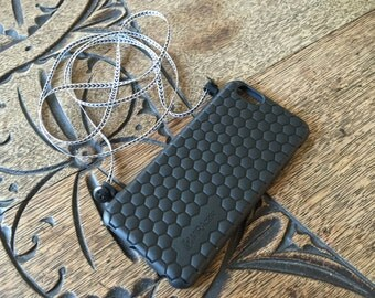 Black Flexible iPhone 6 Case with Cross-body strap