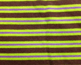 Green Stripe Rib Knit