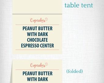 Wedding Dessert Labels Table Tents : Ashley + Daniel