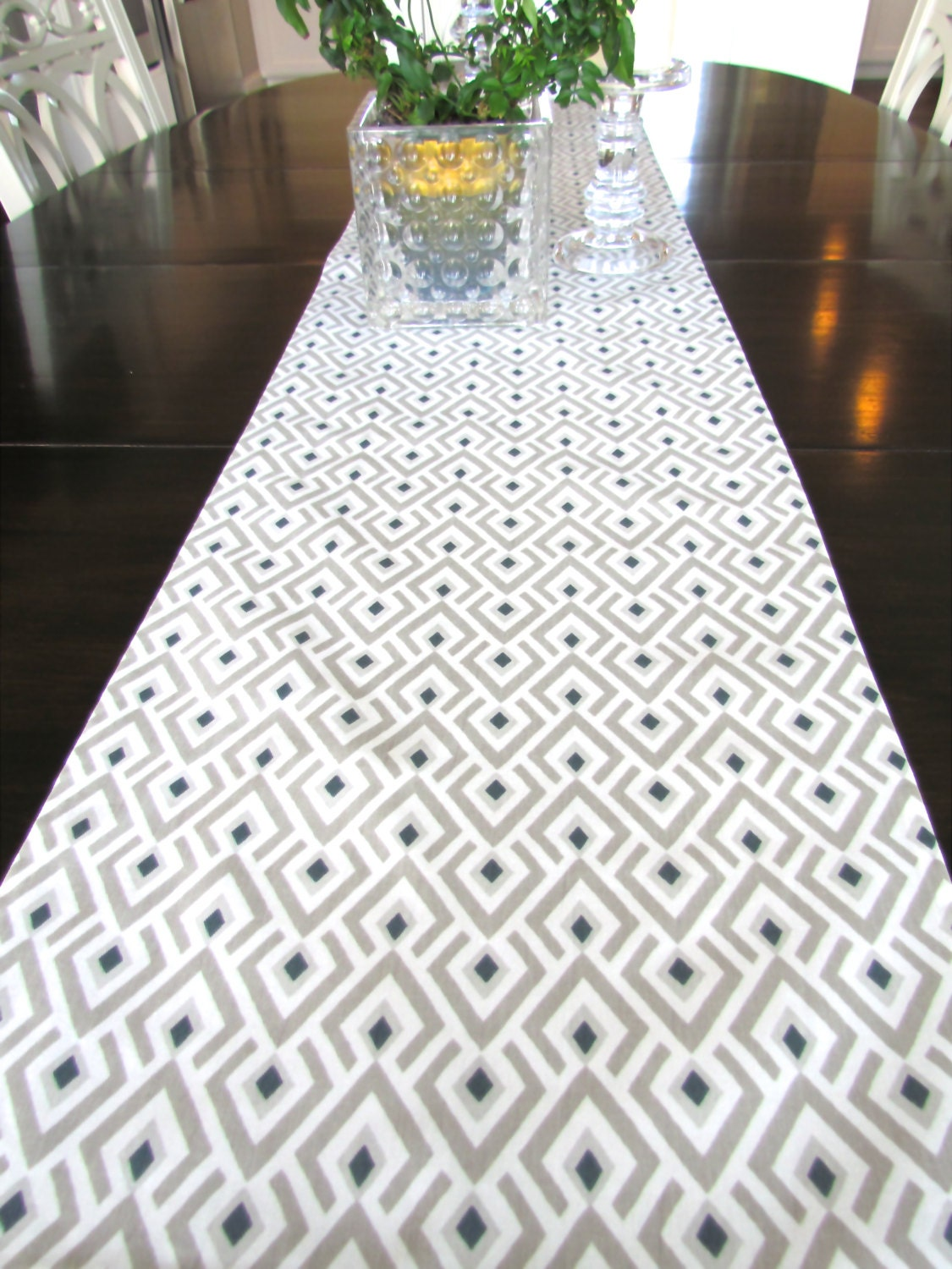 Table Runner 12 X 48 Grey Table Runners Wedding Showers
