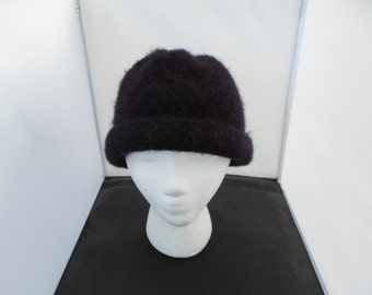 Brownish Grape Wool Felt Rolled Brim Bucket Hat  Measures 22 Inches at crown