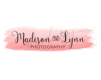 Premade Small Business Logo - Ombre Watercolor Effect / Custom Colors