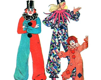 McCall's Sewing Pattern 3353 Adult, Boy's, Girl's Clown Costume  Size:  All  Uncut