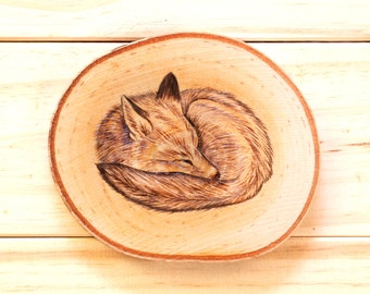 CUSTOM Coasters - Set of 4 Handmade Woodburning Animal Coasters