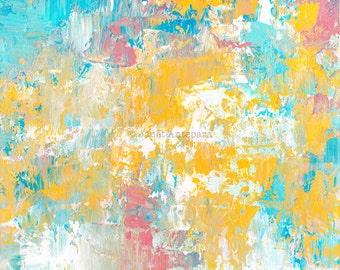 Winter Sunrise Fine Art Print, Modern Art, Abstract Art, Knife Painting, Pastel Home Decor