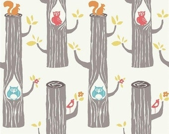 Birch organic Jersey - about 52 woodland friends