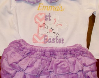 Baby Girl Easter Outfit, Girl First Easter Outfit, Girl 1st Easter Outfit, Girl Easter Bodysuit with Leg Warmers, Girl Easter Outfit