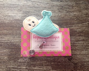 Labor and Delivery Nurse Badge Reel - Pediatric - Labor and Delivery -Nurse Gift - Badge Reel -  Badge Holder - Felt Badge Reel -Office Gift