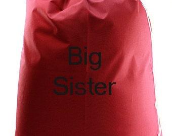 Monogram Burgandy Laundry Bag/dirty clothes bag/vacation bag/college bag/