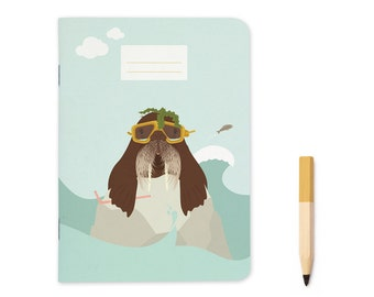 Pocket size Notebook - Walrus | A6 - 4.13 x 5.83""
