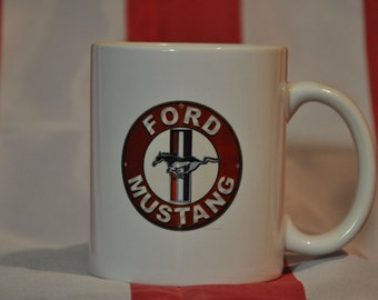 Ford Mustang mug for american car fans