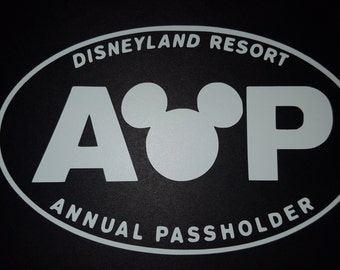 Disneyland Resort Annual Passholder Vinyl Decal