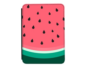 Slice of Summer Watermelon Pattern Kindle Paperwhite / Touch 2012 2013 2014 2015 2016 (All Models) PU Leather Flip Case Cover