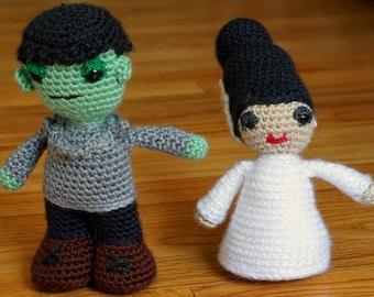 Frankenstein Inspired  Monster and Bride Dolls