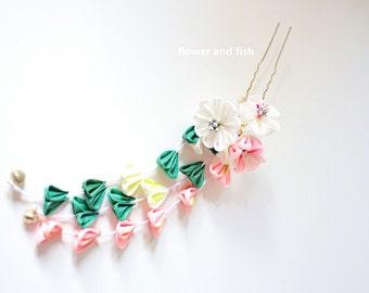 Bridal Hair Pin,Bridal Hair Flower,Pink,Bridal Fascinator,Wedding,Accessories,Floral Hair Pin,Bridesmaid Hair Pin,Pink-S12