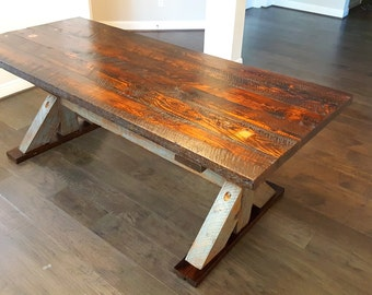 Custom Reclaimed Wood Kitchen Table