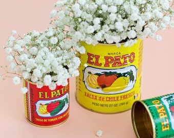 Rehearsal Dinner Decorations Large El Pato Mexican Fiesta Decorations set of 6 cans unique idea for Flower Arrangements Birthday Anniversary