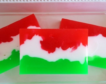 Scotch Pine Cranberry - handcrafted glycerin soap, christmas soap, holiday soap