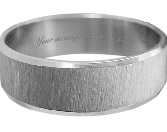 Men's ring in sizes L M N O P Q R S T U V W + personalised engraved in a gift box - UA