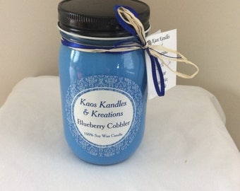Blueberry Cobbler 16 oz Soy Candle