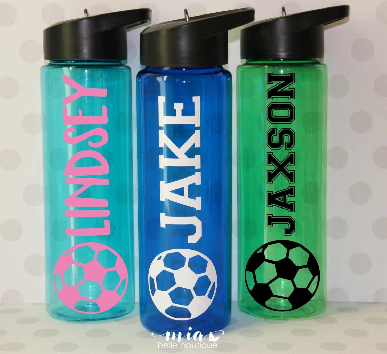 personalized soccer water bottle soccer camp water bottle