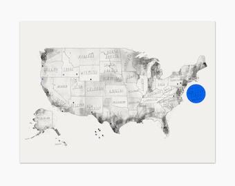 US cork map