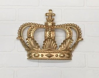 Gold Princess Crown/Gold Crown/Nursery Decor/Shabby Chic/Glam/Teen Room/Wall Decor/Princess/Royal/Crown Wall Decor/Littl