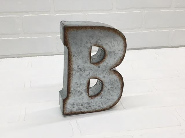 Metal Letter B Wall Decor : Metal letters letter b inch wall