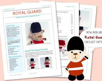 Scott the royal guard crochet pattern