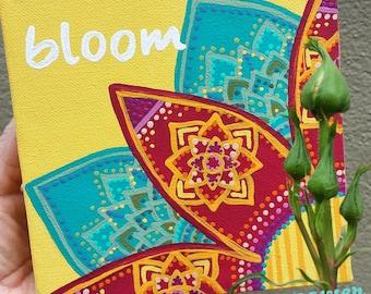 Handpainted BLOOM Wall Art - Handmade Original Artwork - Only 1 available!