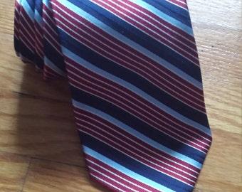 Striped Silk Nautica necktie