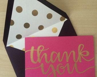 Pretty in pink thank you cards