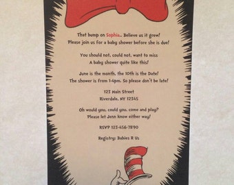 Dr Seuss Baby Shower Invitations - Set of 10