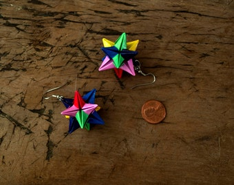 Origami Omega Star Earrings