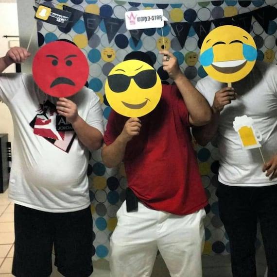 Large Emoji Masks Photobooth Props