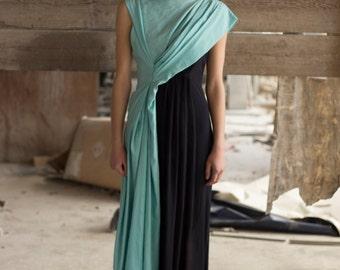 Maxi dress, Asymmetrical, Geometric, Minimalist, Eco friendly