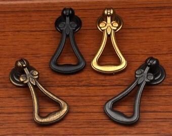 Vintage Style Dresser Pull Knobs Drawer Knob Pulls Handles Drop Ring  Antique Gold Brass Bronze Black