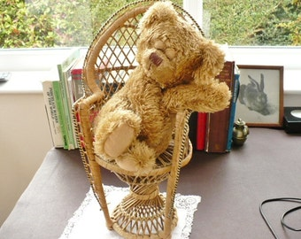 Vintage Wicker Dolls Chair