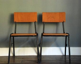 Stackable children's school chairs